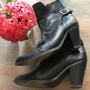 Zadig and Voltaire boots black leather